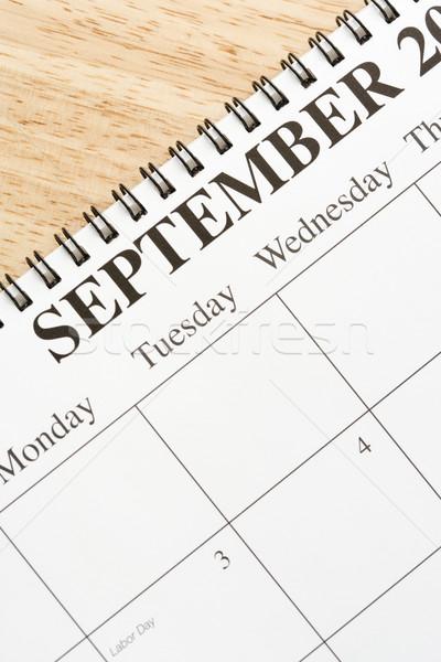 Zdjęcia stock: Kalendarza · spirali · miesiąc · działalności · kolor