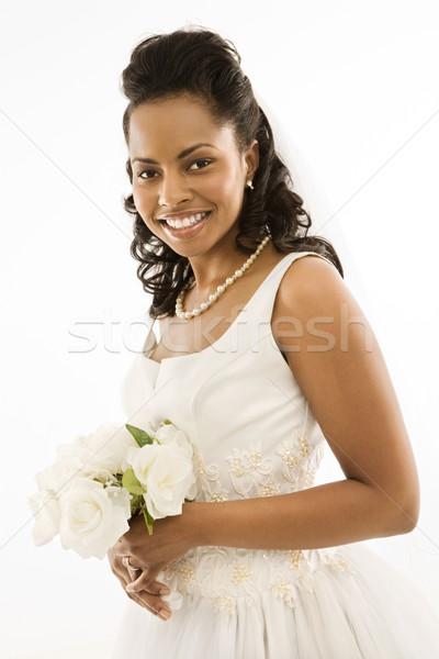 Novia ramo retrato mujer mujeres Foto stock © iofoto