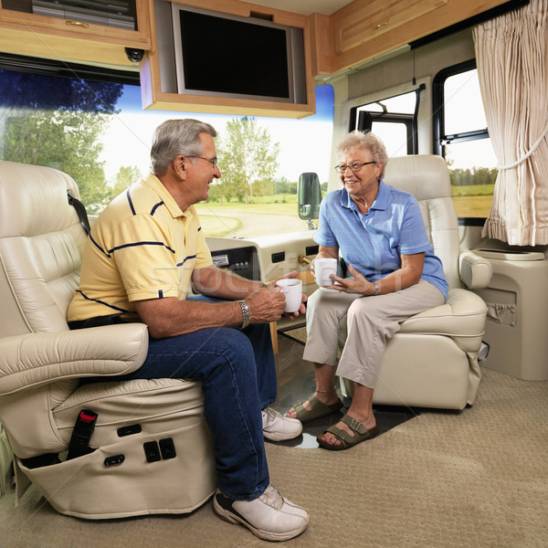 Senior couple in RV. Stock photo © iofoto