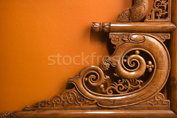 Ornate wooden carving. Stock photo © iofoto