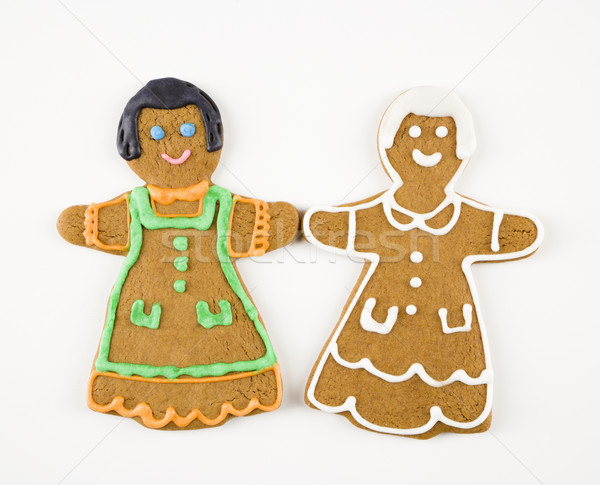 Girl cookies holding hands. Stock photo © iofoto