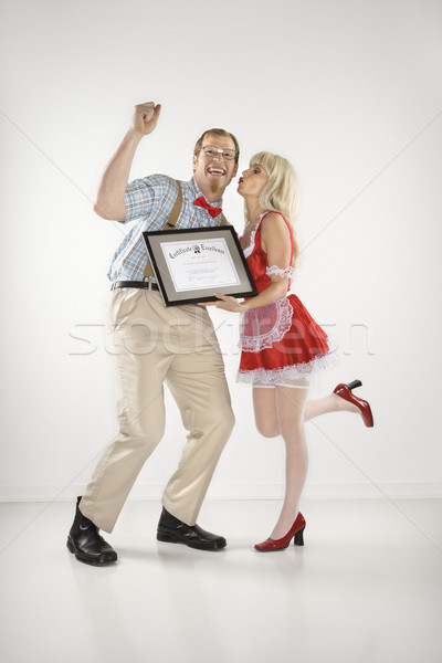 Man receiving certificate. Stock photo © iofoto