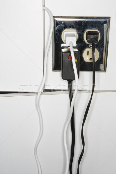 Elektrische meervoudig kleur elektriciteit koord niemand Stockfoto © iofoto