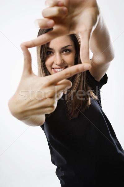 Retrato bastante menina jovem caucasiano feminino Foto stock © iofoto