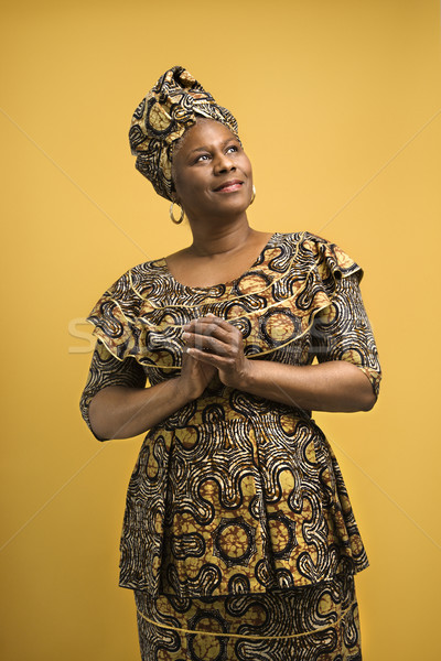 Woman in African attire. Stock photo © iofoto