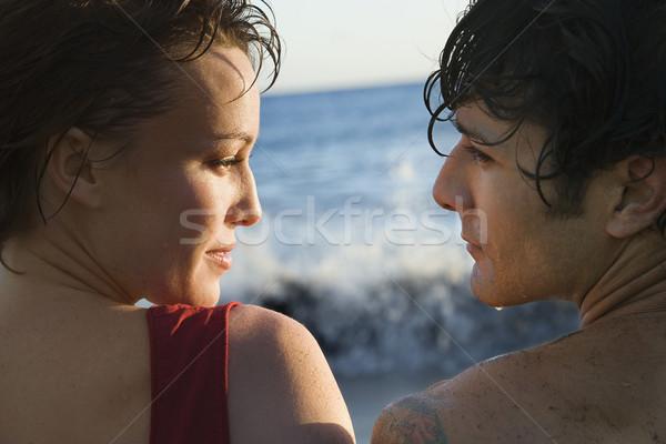 Couple By the Ocean Stock photo © iofoto