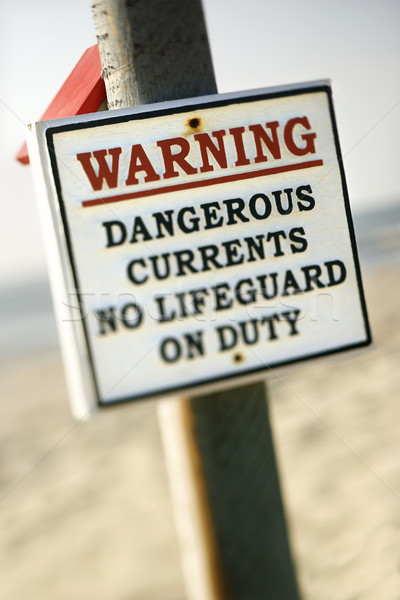Current warning sign. Stock photo © iofoto