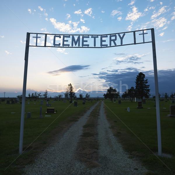 Entrance to cemetary. Stock photo © iofoto