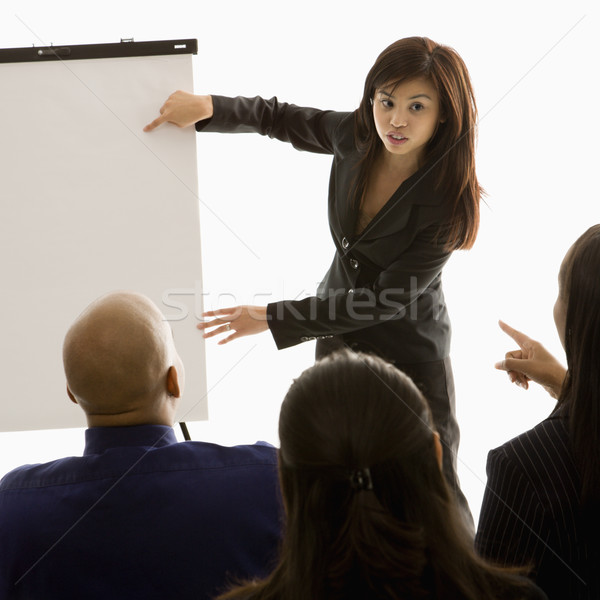 Businesswoman giving presentation. Stock photo © iofoto
