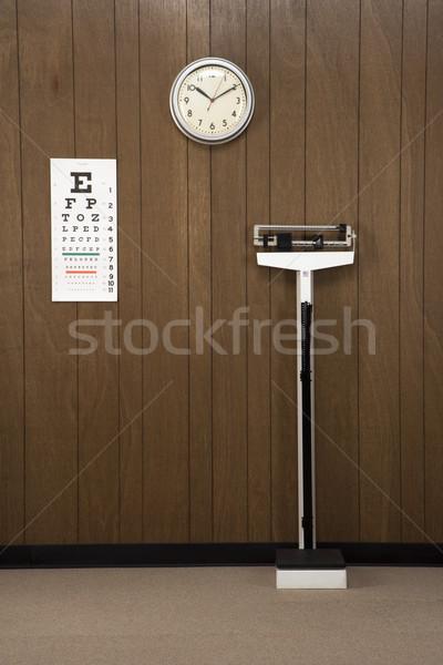 Retro medico ufficio legno clock Foto d'archivio © iofoto