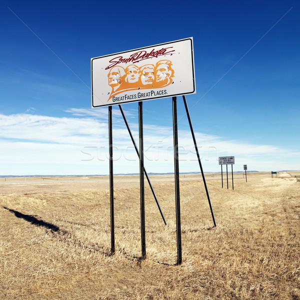 South Dakota teken zuiden leuze kant snelweg Stockfoto © iofoto