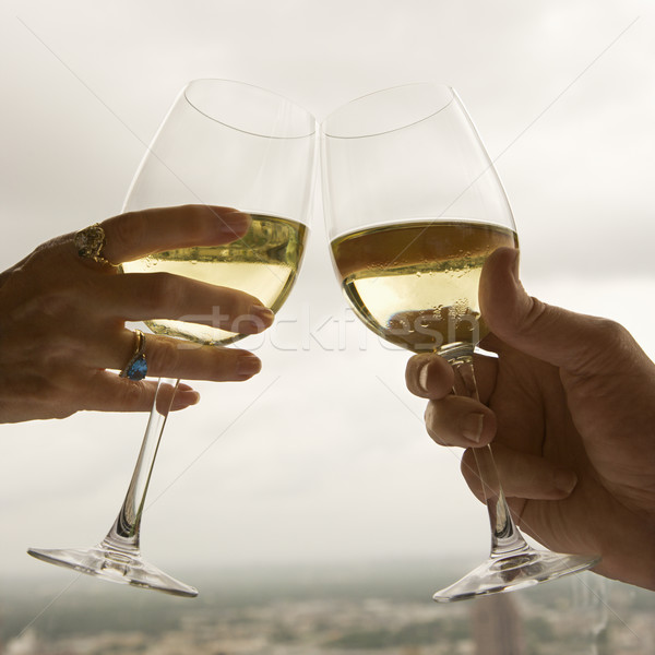 Paar volwassen paren handen Stockfoto © iofoto