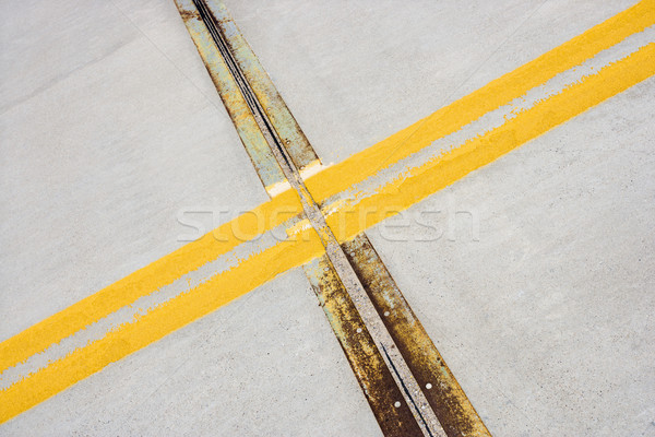Road detail with lines. Stock photo © iofoto