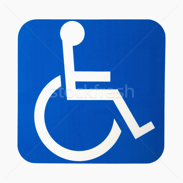 Handicap sign. Stock photo © iofoto