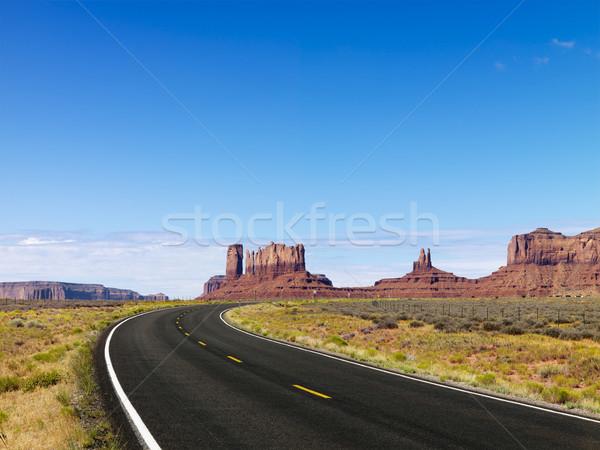 Scenic desert highway. Stock photo © iofoto