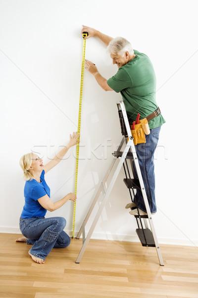 Zdjęcia stock: Człowiek · kobieta · ściany · para