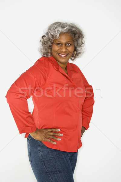 Smiling mature woman. Stock photo © iofoto