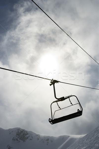 Empty ski lift chair. Stock photo © iofoto