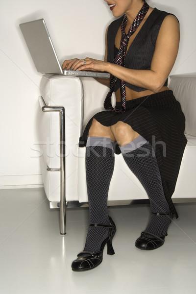 Woman on laptop. Stock photo © iofoto