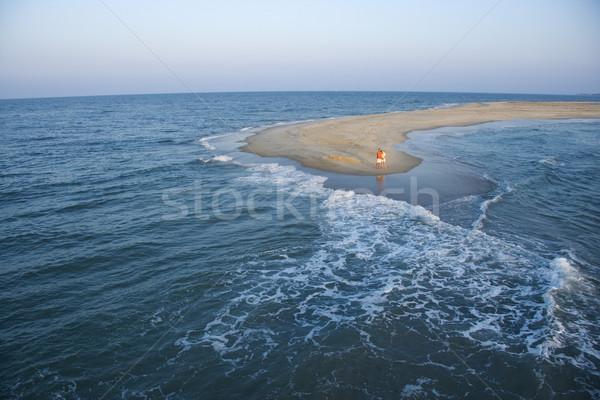 Aerial of couple on beach. Stock photo © iofoto