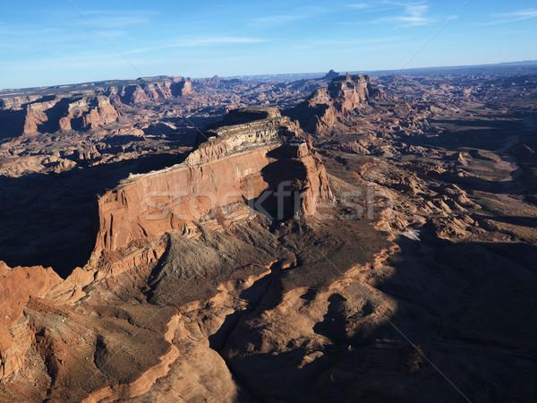Antenne zuidwest luchtfoto woestijn rock Stockfoto © iofoto