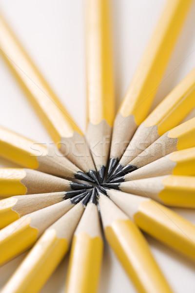 Stockfoto: Potloden · star · vorm · scherp · symmetrisch · business
