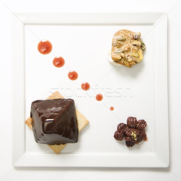 Gourmet dessert plate. Stock photo © iofoto