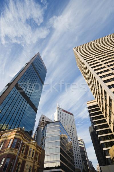 Sydney Austrália ver arranha-céus edifícios Foto stock © iofoto
