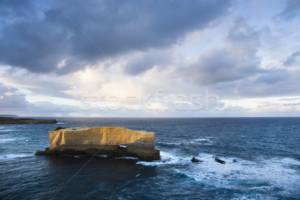 Rock formation in ocean. Stock photo © iofoto