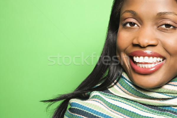 Attractive woman portrait. Stock photo © iofoto