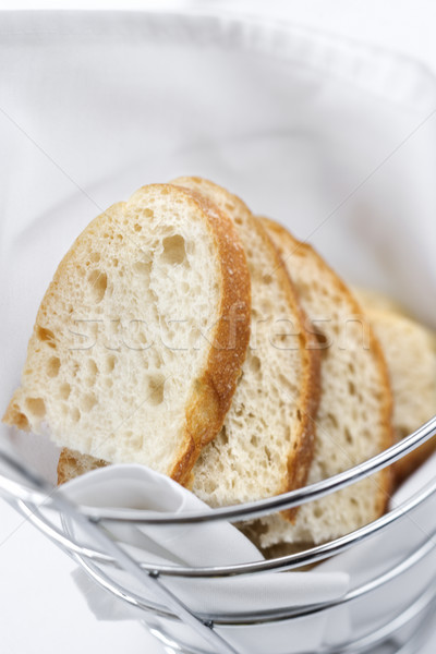 Sliced Bread in Wire Basket Stock photo © iofoto