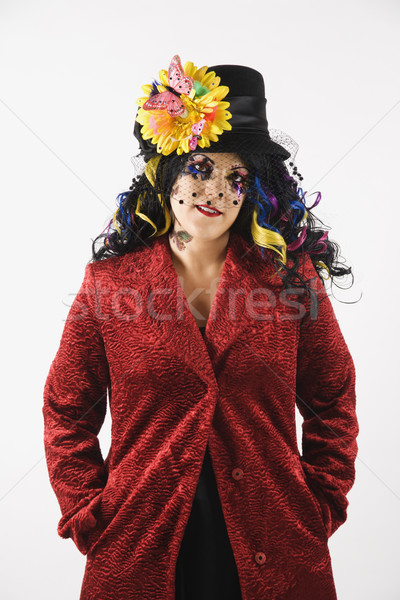 Woman expressing herself. Stock photo © iofoto