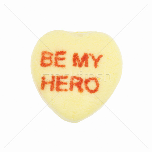 Cukorka szív fehér citromsárga enyém hős Stock fotó © iofoto