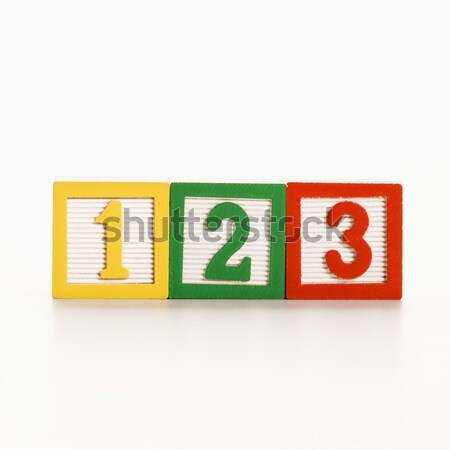 Numbered blocks. Stock photo © iofoto
