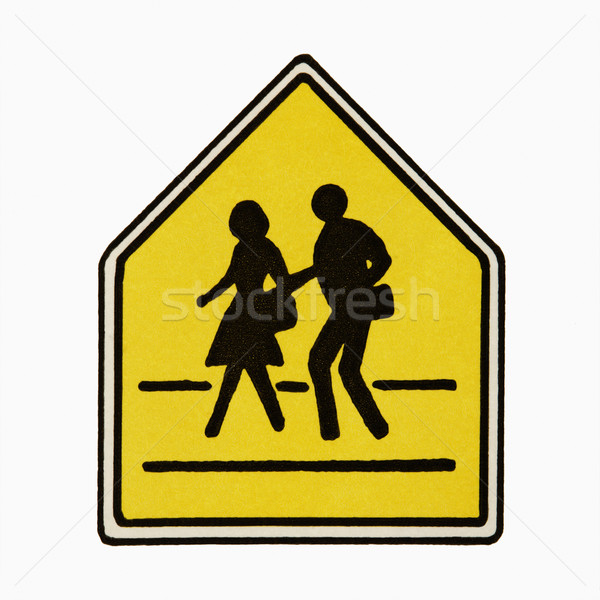Pedestrian crossing sign. Stock photo © iofoto