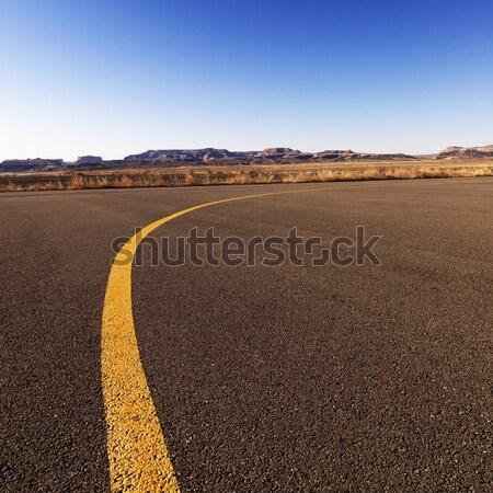 Yellow line on airport tarmac. Stock photo © iofoto