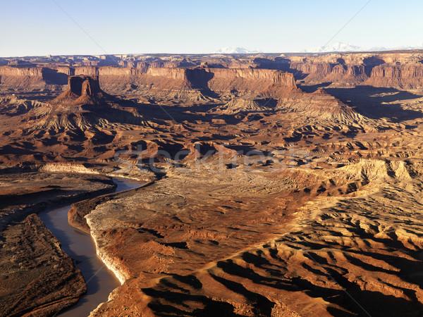 Folyó park Utah légi tájkép Egyesült Államok Stock fotó © iofoto