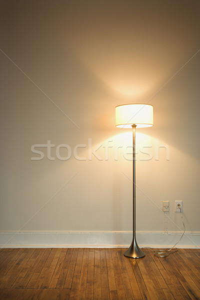 Floor lamp on hardwood floor. Stock photo © iofoto