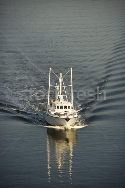 Vissersboot luchtfoto zee oog reizen schip Stockfoto © iofoto