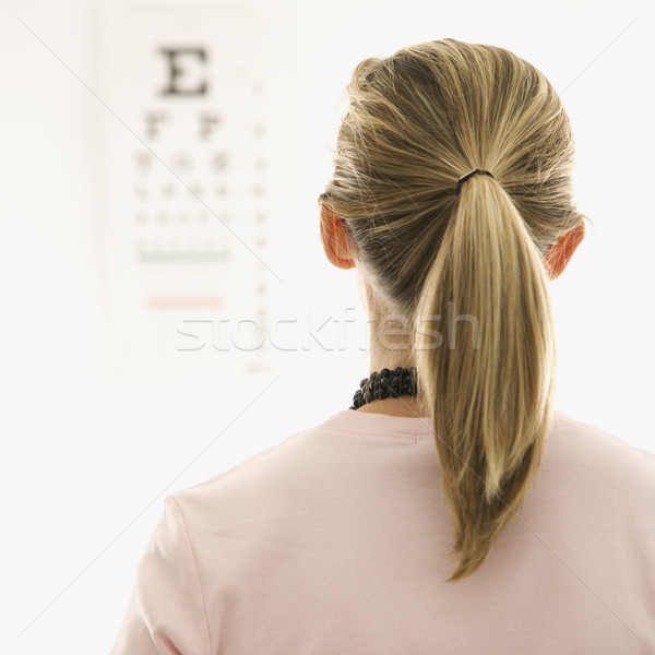 Patient getting eye exam. Stock photo © iofoto