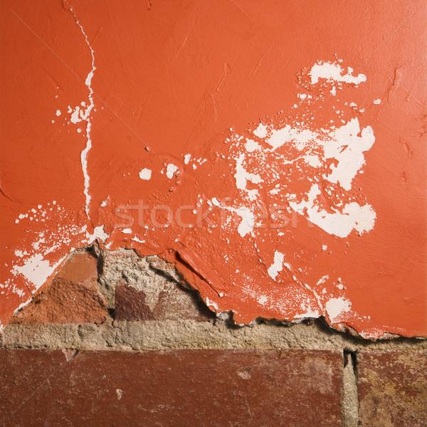 Brick and plaster wall. Stock photo © iofoto