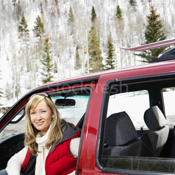 Woman in vehicle. Stock photo © iofoto