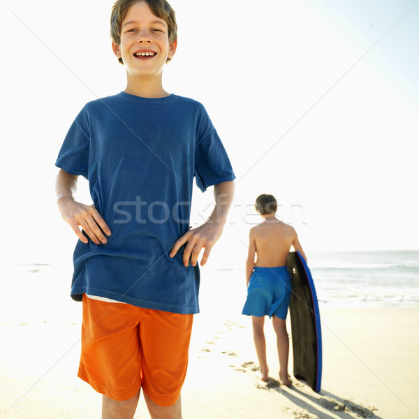 Boys at the beach. Stock photo © iofoto