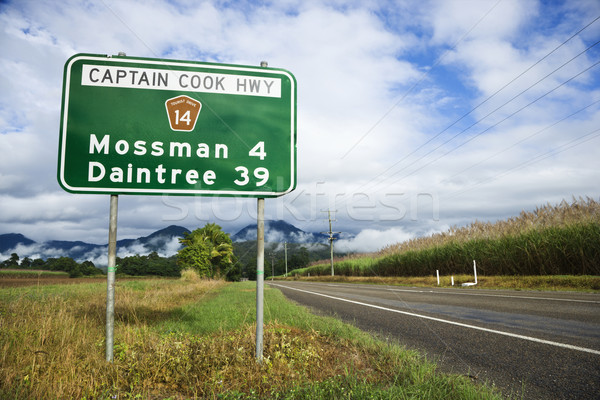 Rural Australia highway Stock photo © iofoto
