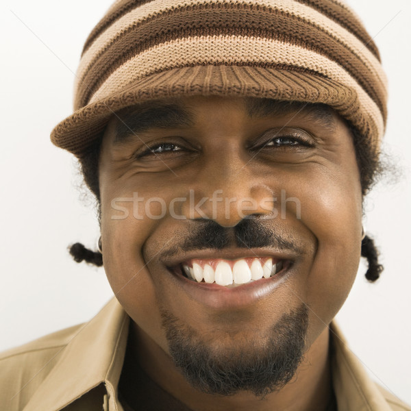 Handsome male portrait. Stock photo © iofoto