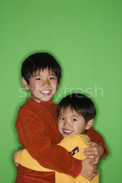 азиатских братья молодые семьи детей Сток-фото © iofoto