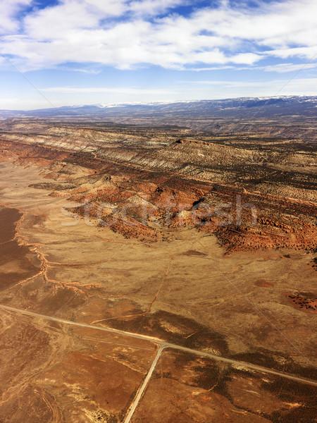 Sivatag tájkép természet háttér Stock fotó © iofoto