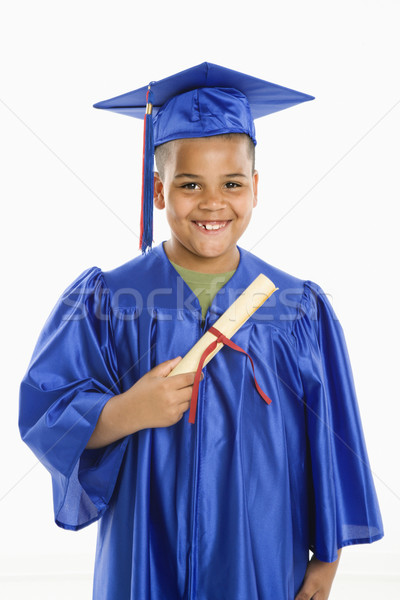 Young hispanic boy graduating. Stock photo © iofoto