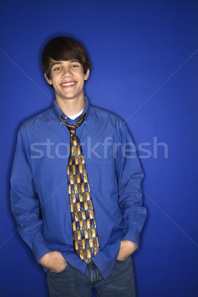 Portrait of teenage boy. Stock photo © iofoto