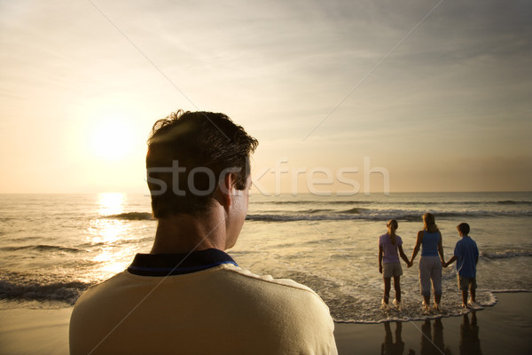Family at beach. Stock photo © iofoto